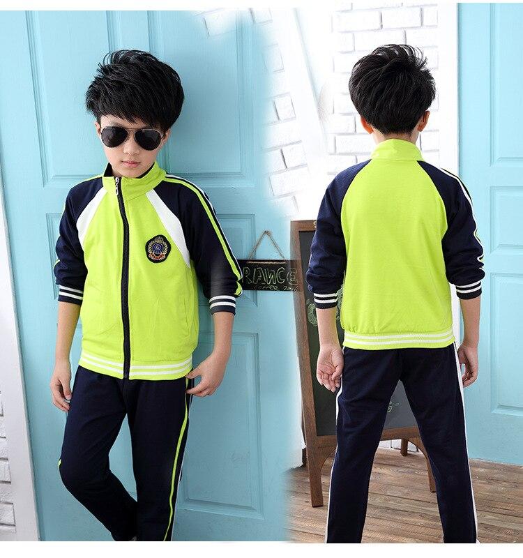 Boys Girls Autumn clothing set 2pcs for big kids Jacket Coat pants Tracksuit vetement garcon Size 4 6 8 10 12 14 16 18 years