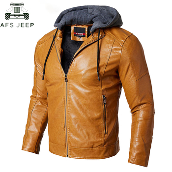 High Quality Tactical Military PU Leather Jacket Men Winter Casual Windproof Motorcycle Biker Faux Leather Hoodie Jackets Coat