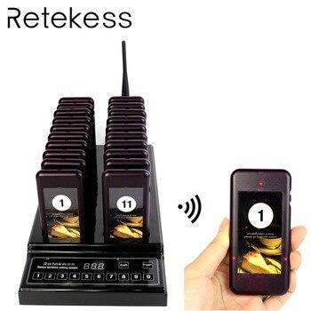RETEKESS T112 Ресторан Вызов Системы Беспроводной вызова пейджера Системы 433,92 МГц зуммера звукового оборудования для церкви Кофе Clinic