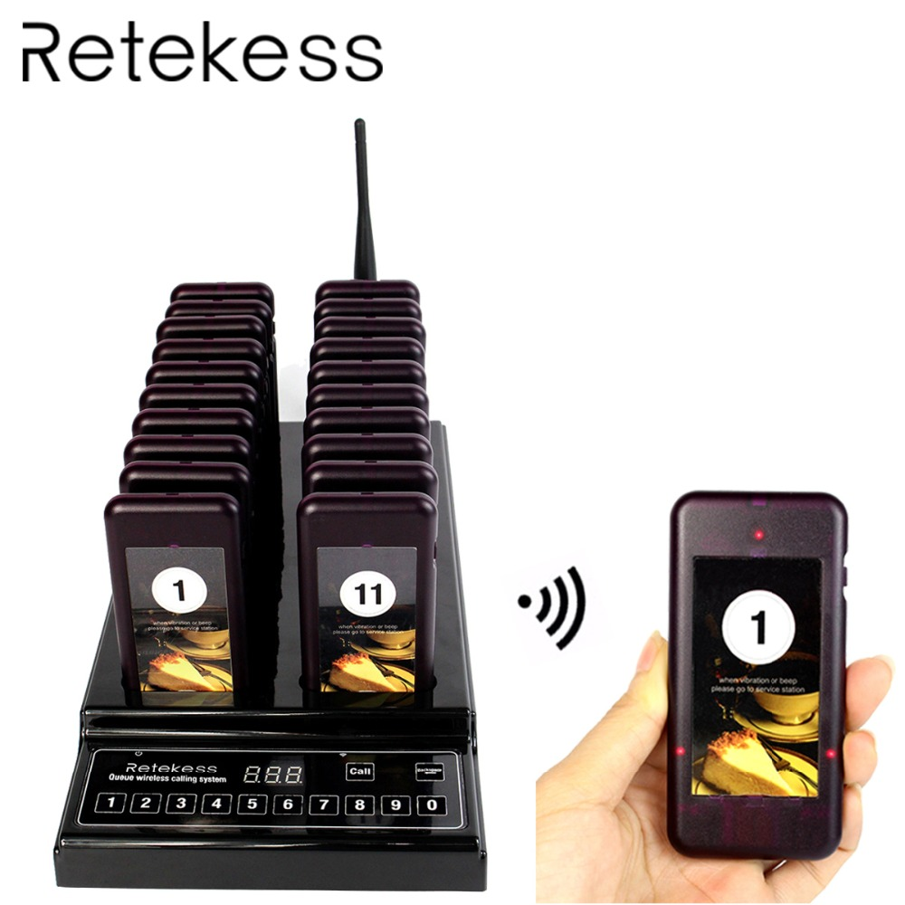 RETEKESS T112 Restaurant pager queue Wireless paging System with vibrator buzzer beeper restaurant order Equipment For Cafe ShopRETEKESS T112 Restaurant pager queue Wireless paging System with vibrator buzzer beeper restaurant order Equipment For Cafe Shop