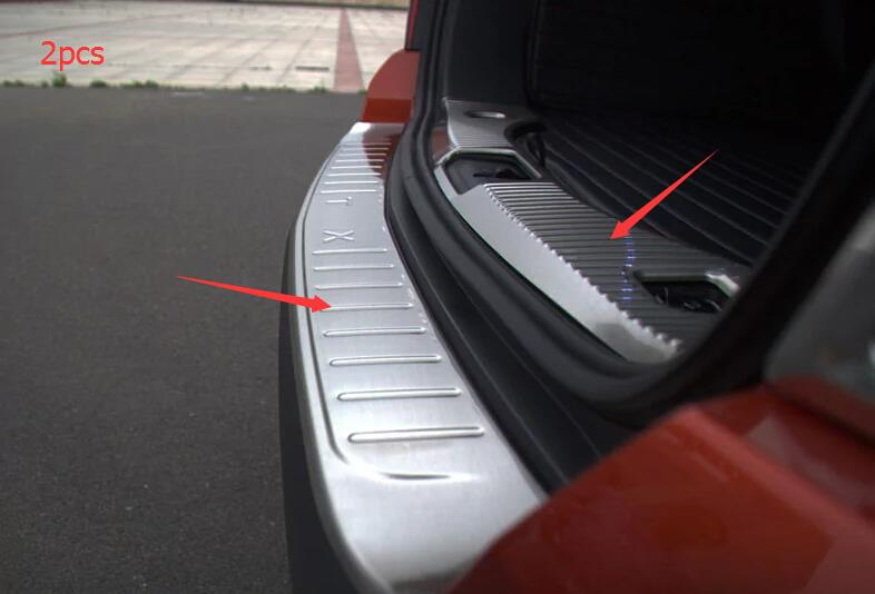 For Chevrolet TRAX 2014 2015 Stainless Steel Inner & Outer Rear Bumper Protector Sill Plate 2pcs! stainless steel rear outer inner bumper protector door sill plate 2 pcs for ford explorer 2016 2017
