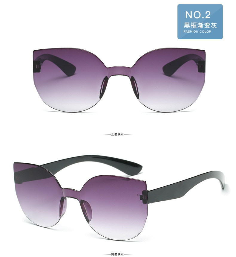 UCOOL 2018 Fashion Square Rimless Sunglasses Women Vintage Brand Designer Coating Sun Glasses UV400 (8)