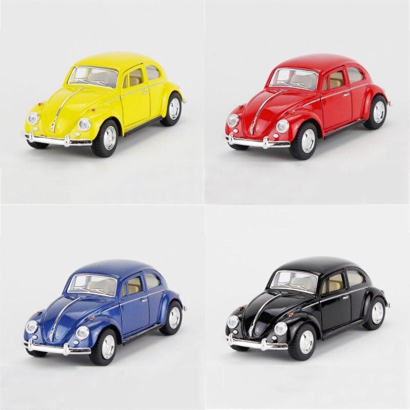 Maisto Yellow Smart Fortwo Open Door Diecast Metal Car: 4 In1 Kinsmart 1967 VW Beetle Black Type1 1/32 Alloy Model