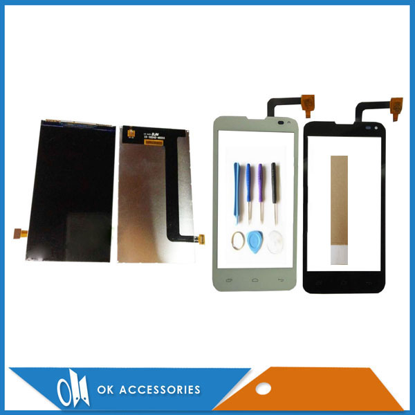 For Fly Quad Era Style 3 IQ4415 IQ 4415 LCD Display Touch Screen Display Digitizer Black White Color With Tools Tape 1PC/Lot