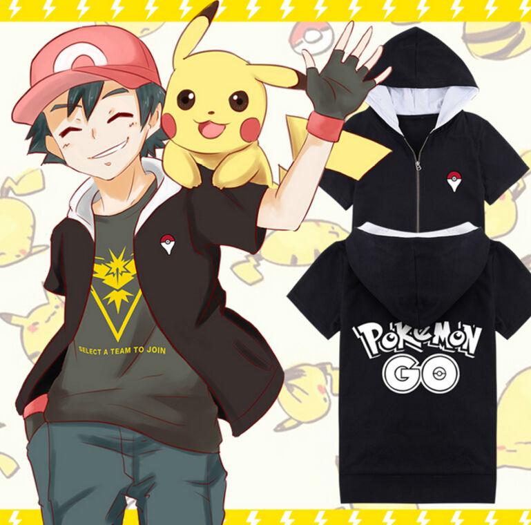 Hoodie Men Women Pokemon Go Team Valor Team Mystique Team Instinct T Shirt Cosplay shirt pokeball