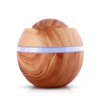 Candimill Kleine 500 ml Luftbefeuchter Holzmaserung Aroma Diffusor Schreibtisch Humidificador Ätherisches Öl Nebel Maker LED Licht