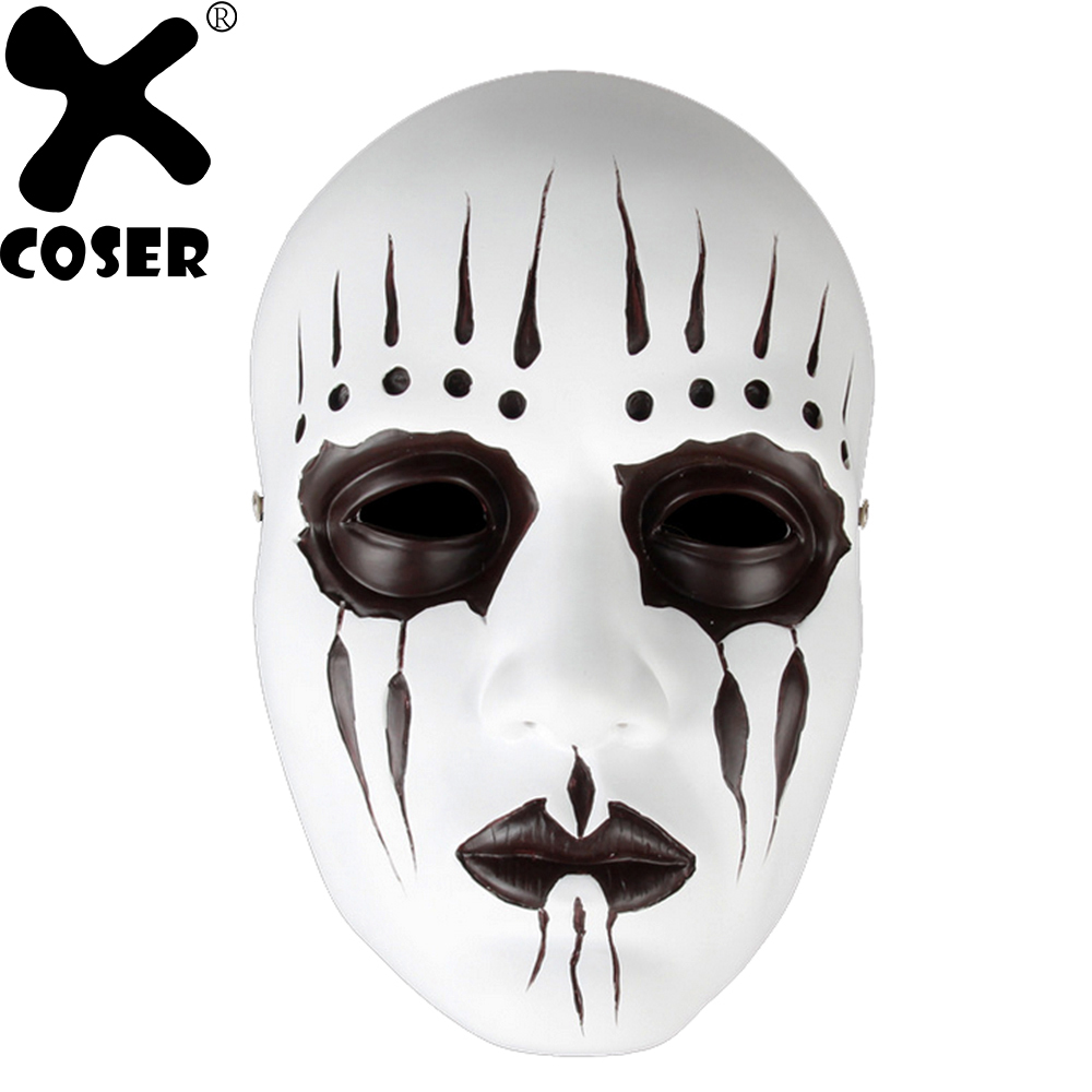 XCOSER Slipknot Band Drummer Joey Jordison Masks Holiday Cosplay Props Halloween Scared Full Face Cosplay Mask Costume Accessory
