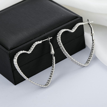 Simple Metal 3 Layers Geometric Heart Earrings Vintage Hoop For Women Accessories Fashion Jewelry Gift