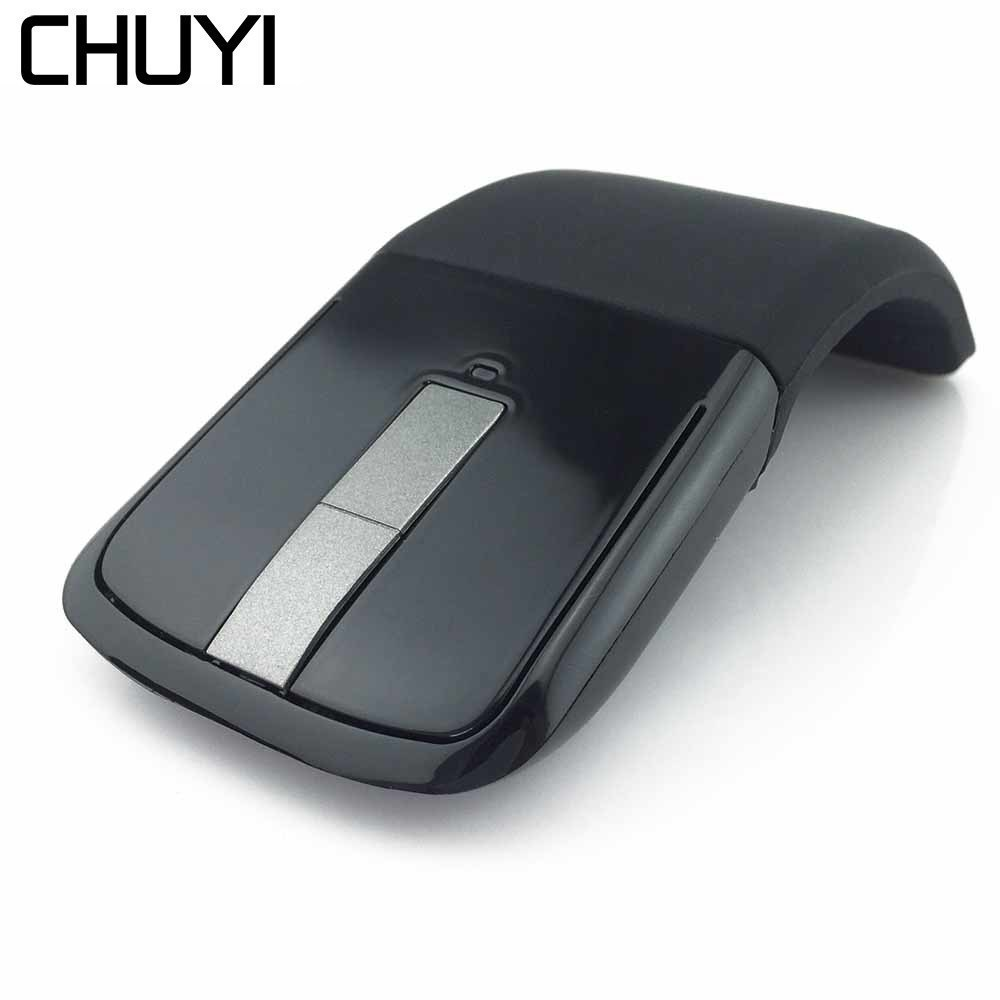 CHUYI Arc Touch Wireless2 .4G Mouse Flexible Ultrathin Foldable Optical Mice Computer Gaming Mause For Microsoft Laptop