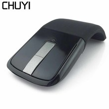 лучшая цена CHUYI Arc Touch Wireless2 .4G Mouse Flexible Ultrathin Foldable Optical Touch Mice Computer Gaming Mause For Microsoft Laptop