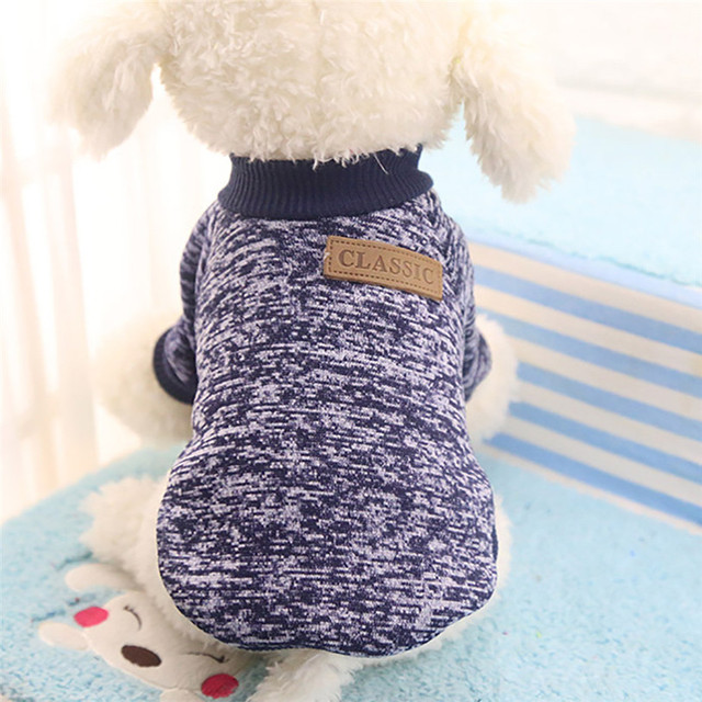 Classic Dog Clothes Warm Puppy Outfit Pet Jacket Coat Winter Dog Clothes Soft Sweater Clothing For Small Dogs Chihuahua noDC5 2