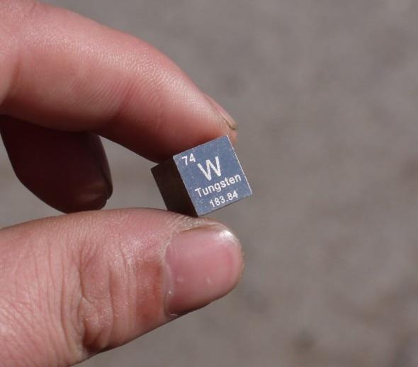 Tungsten cube weighs about 19.16g 10mm W = 99.95%