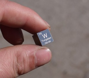 Image 1 - Tungsten cube weighs about 19.16g 10mm W = 99.95%