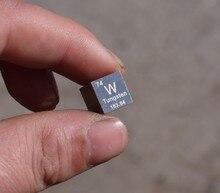 Wolfraam kubus weegt ongeveer 19.16g 10mm W = 99.95%