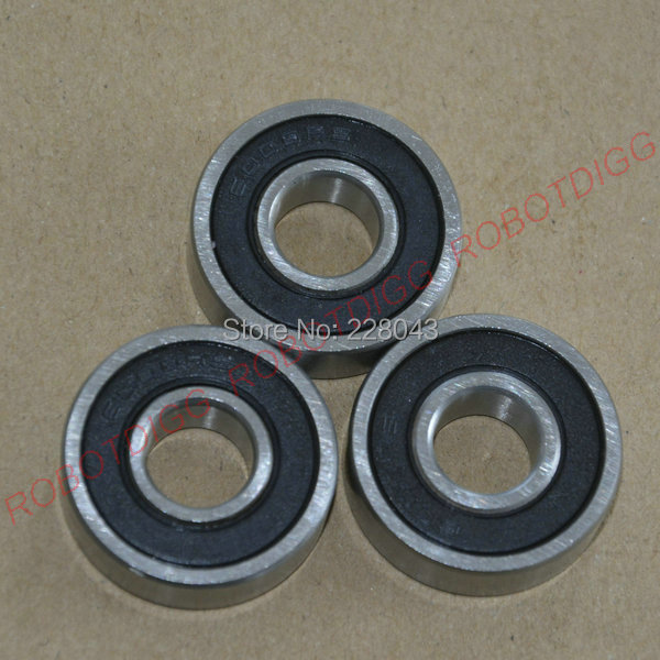 Free Shipping 10Pcs/ Lot Double Rubber Shielded   Deep Groove Ball Bearing 6000RS