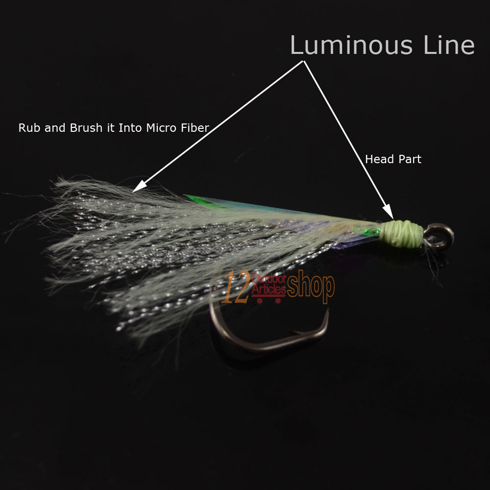 MNFT 1 100yards Luminous Fly Tying Line Yarn for Flies Lure Head Body Decorating Sabiki Rig Fly Making Green Yellow Pink Rainbow