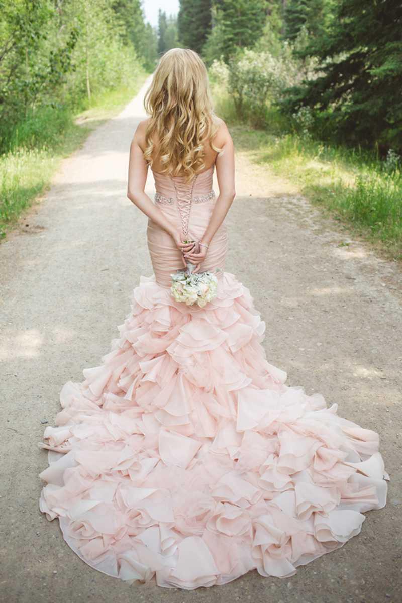 Heißer Verkauf Plissee Sweetheart Erröten Rosa Hochzeitskleid 2016 ...