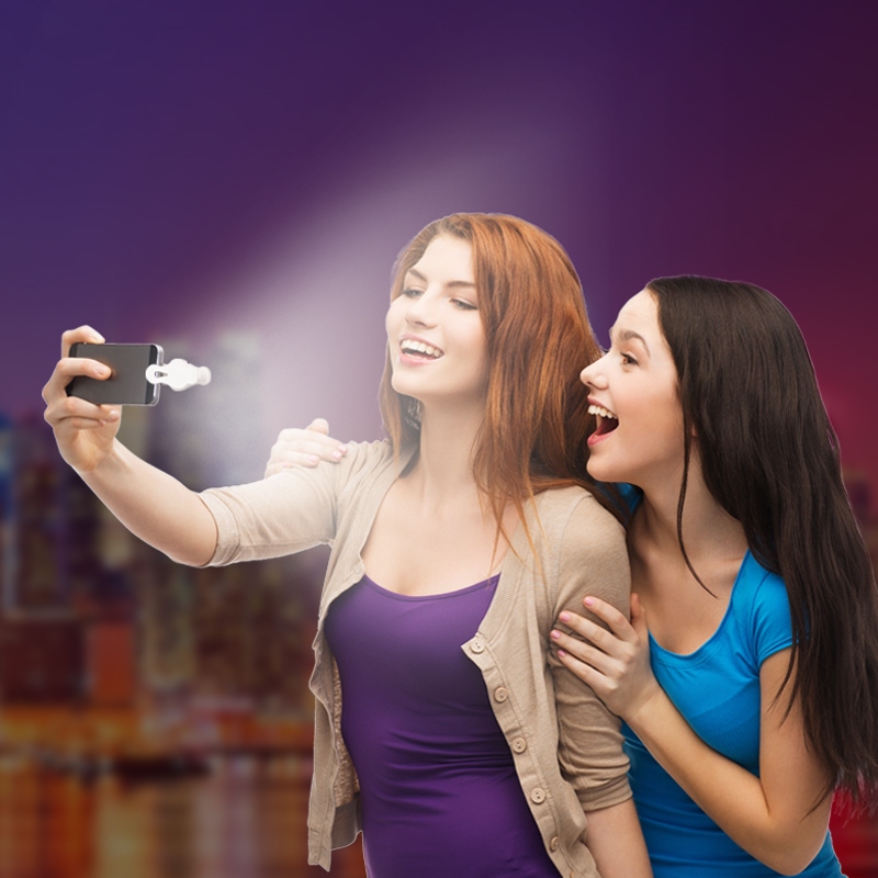 H&LOO Universal Clip 5 in 1 Fish eye lens HD smartphone camera lens wide angle macro Fill light lente para celular For iPhone