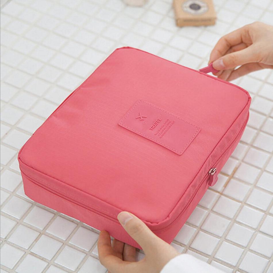 New Multi-function fashion Foldable Waterproof Oxford cloth Wash supplies large storage bag Travel cosmetics storage organizer