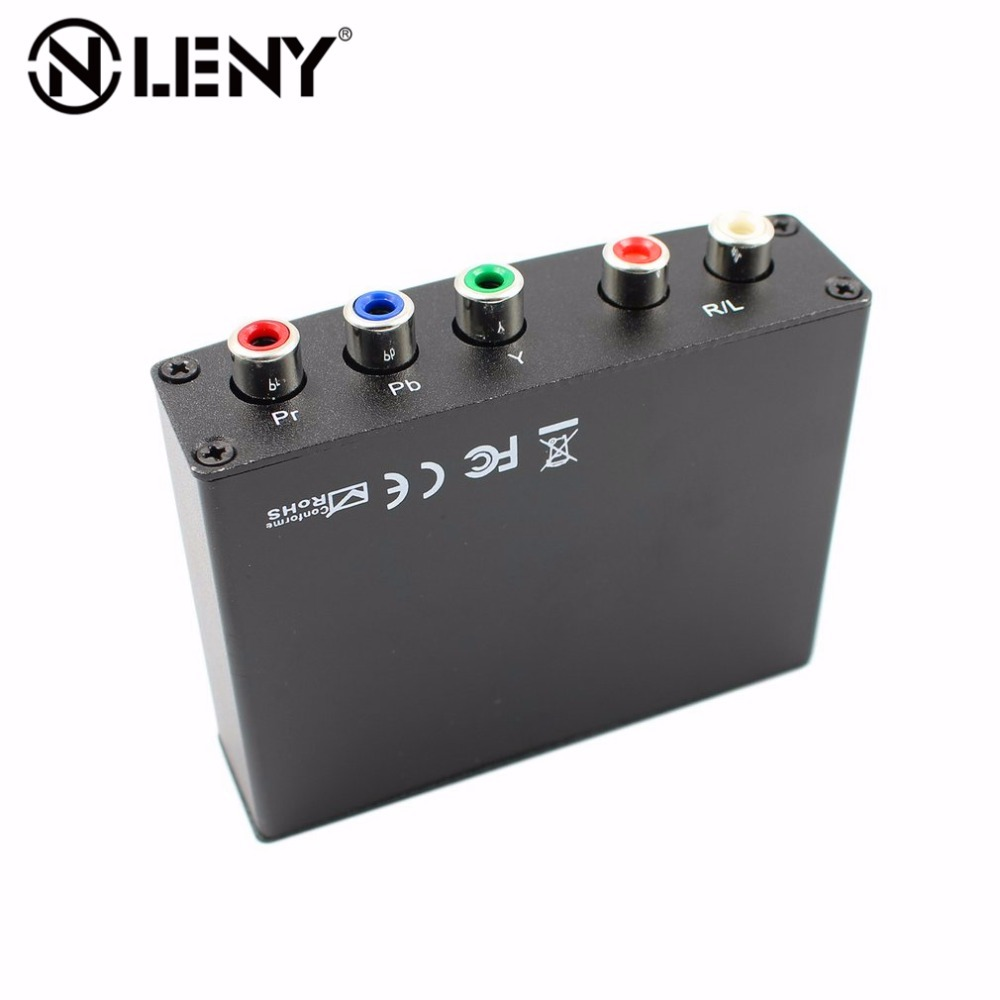 Onleny Component HDMI to YPbPr RGB Converter Video Audio Adapter YPbPr/RGB + R/L audio to HDMI AV 1080P US EU UK AU Plug 7600 component video to vga video converter change ypbpr to composite video