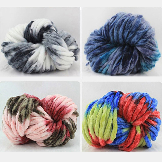 40f29274f7f Popular Beautiful Thick Yarns Loopy Mango Yarn 250g lot Hand Knitting Hat  Yarn Neckerchief Wool Yarn Pure Color Mix Color