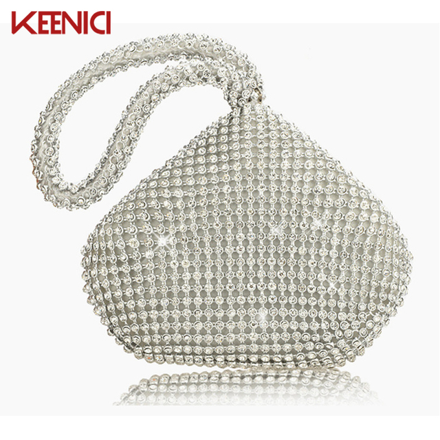 Rhinestones Women Clutch Bags Diamonds Finger Ring Ladies Vintage Evening Bags Crystal Wedding Bridal Handbags Purse Bags Holder