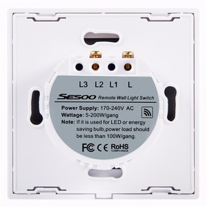 Image 5 - EU/UK Standard SESOO Waterproof Remote Control Switch 3 Gang 1 Way 3 Position Wireless Remote Control Light Switches SY2 03