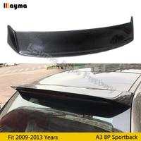 Oettinge style Garbon fiber Roof wing spoiler For AUDI A3 8P Sportback 2009 2010 2011 2012 car CF roof spoiler not fit s3 model