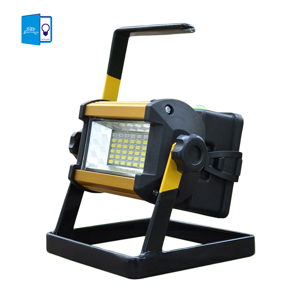 [DBF]Waterproof IP65 SMD3528 36LED 30W LED Flood light Portable SpotLights Rechargeable Outdoor LED Work Emergency light