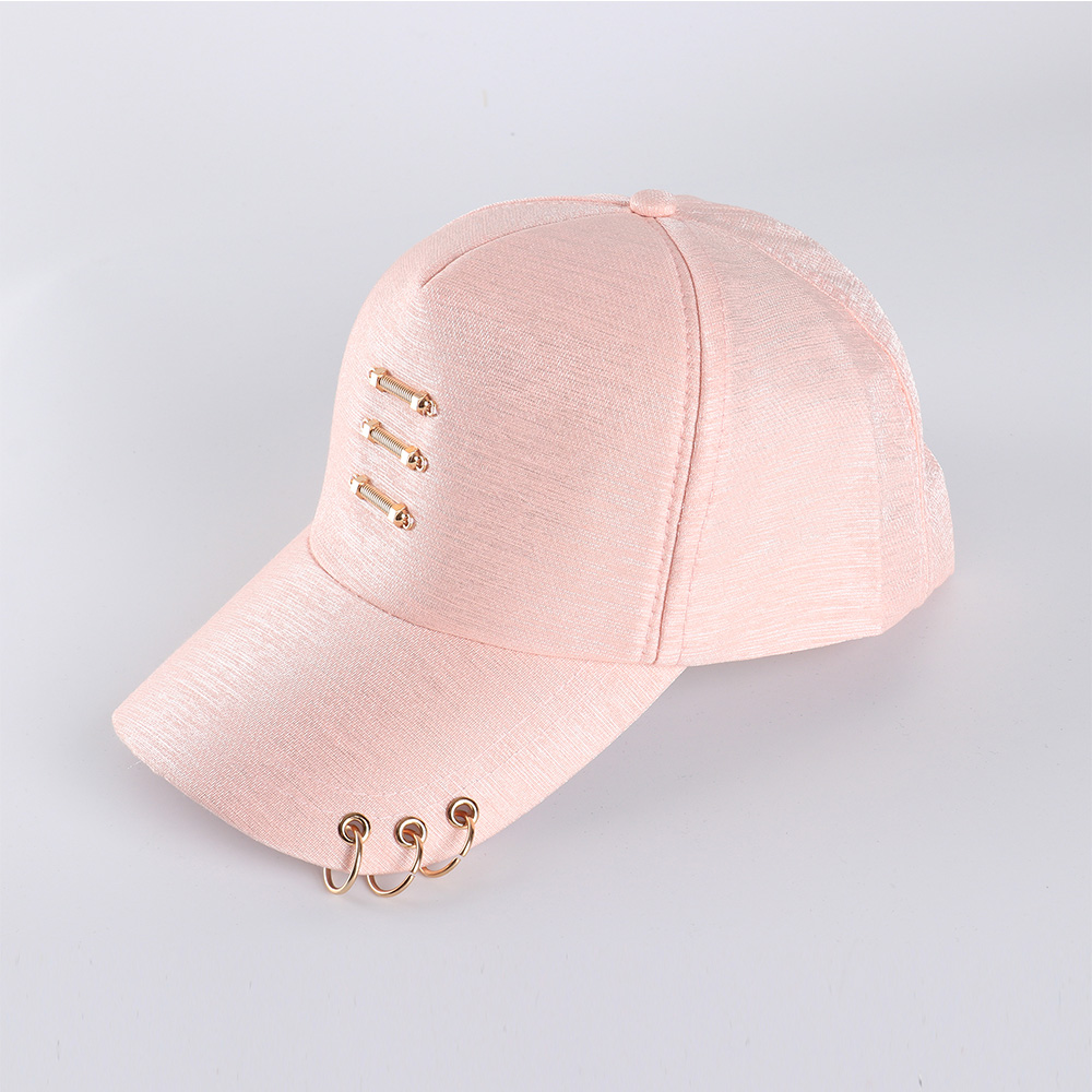 022f1a5a4c1e34 FS Casual Fashion Baseball Cap With Ring Women Luxury Solid Color Adjustable  Men Outdoor Caps Summer Sports Black Pink White-in Baseball Caps from  Apparel ...