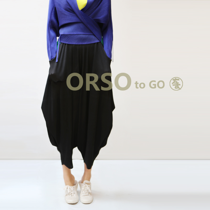 Azterumi Issey Miyake лето-осень Новый 2018 Для женщин Повседневное свободные шаровары Женская мода Высокая Талия свободные штаны женские брюки