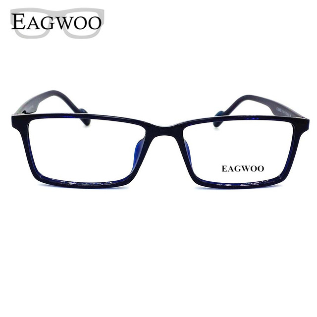 cef1c3ca04 Acetate TR90 Eyeglasses Big Wide Face Full Rim Optical Frame Prescription  Spectacle Square Glasses For Men Eye glasses 1610