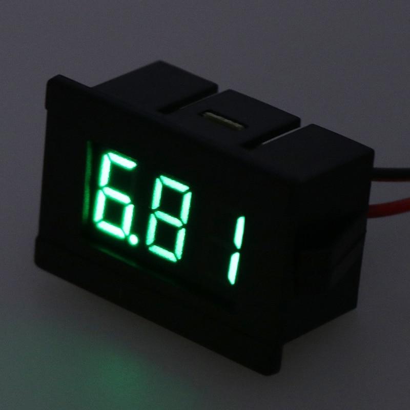 1PC 0.36 Inch DC 4.5-30V LED Mini Digital Voltmeter Blue/red/green LED Display Volt Meter Gauge Voltage Panel Meter 2 wires