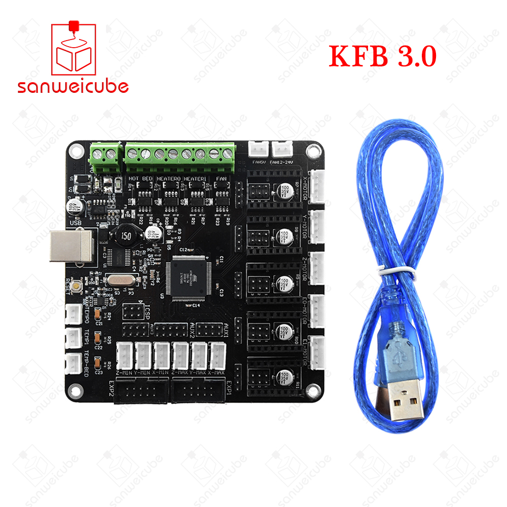 3D Printer KFB3.0 controller board Compatible Ramps1.4 Mega2560 R3 Support A4988/DRV8825/TMC2100 Stepper motor driver soaringe e00316 3d printer kit mega2560 board ramp 1 4 extend shield 4 a4988 stepper drivers