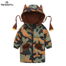 Boys Warm Winter Coat Baby Parkas For Girls Camouflage Infant Overcoat Children's Winter Jackets Toddler Hooded Cotton Clothes недорго, оригинальная цена