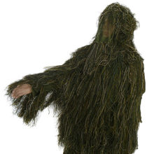 3D Universal Camouflage Suits Woodland Clothes Adjustable Size Ghillie Suit For Hunting Army Military Tactical For Men Gifts(China)