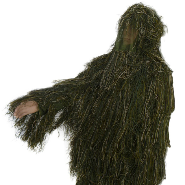 Jampelle 3D Universal Camouflage Woodland Clothes Adjustable Size Ghillie Suit