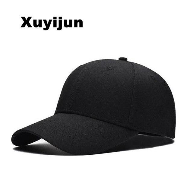 98e81614685 Xuyijun Black Adult Unisex Casual Solid Adjustable Baseball Caps Snapback  hats for men baseball cap white men cap dadcap