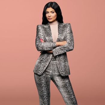 Kylie Jenner Snake-Print Pants Suit Designer Quality Two-Button Snakeskin Cotton Twill Peak Lapel Jacket Skinny Pants 2 Piece Set