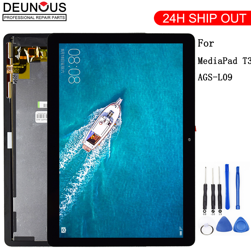 New 9.6 For Huawei Mediapad MediaPad T3 10 AGS-L03 AGS-L09 AGS-W09 T3 LCD display touch screen digitizer assembly srjtek for huawei mediapad t1 8 0 3g s8 701u honor pad t1 s8 701 touch screen digitizer lcd display matrix tablet pc assembly