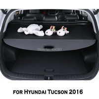 good Black Retractable Rear Trunk Cargo Luggage Security Shade Cover Shield for Hyundai Tucson 2016