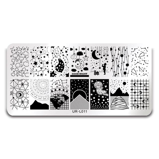 Ur Sugar Big Dipper Stars Moon Starry Sky Design Nail Art Print