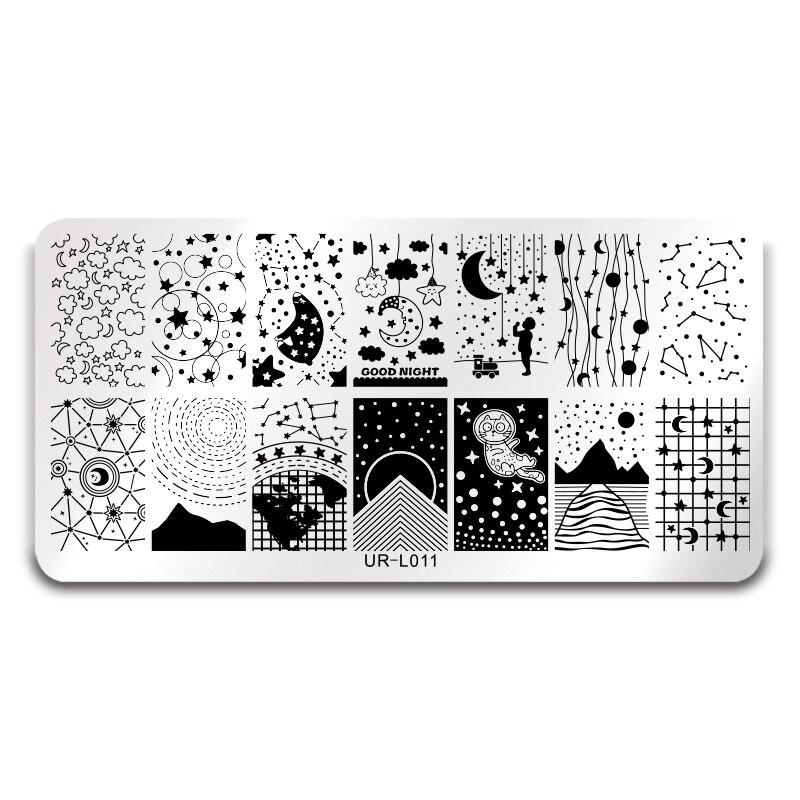 Preiswert Kaufen Ur Zucker Big Dipper Sterne Mond Starry Sky Design Nail Art Print Schablone Rechteck Stanzen Vorlage Maniküre Diy Platte L011 SorgfäLtige Berechnung Und Strikte Budgetierung Nailart-vorlagen Nails Art & Werkzeuge