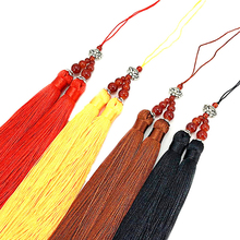 15cm Long silk tassels decoration bookmark Double sewing tassel trim decorative key for curtain home