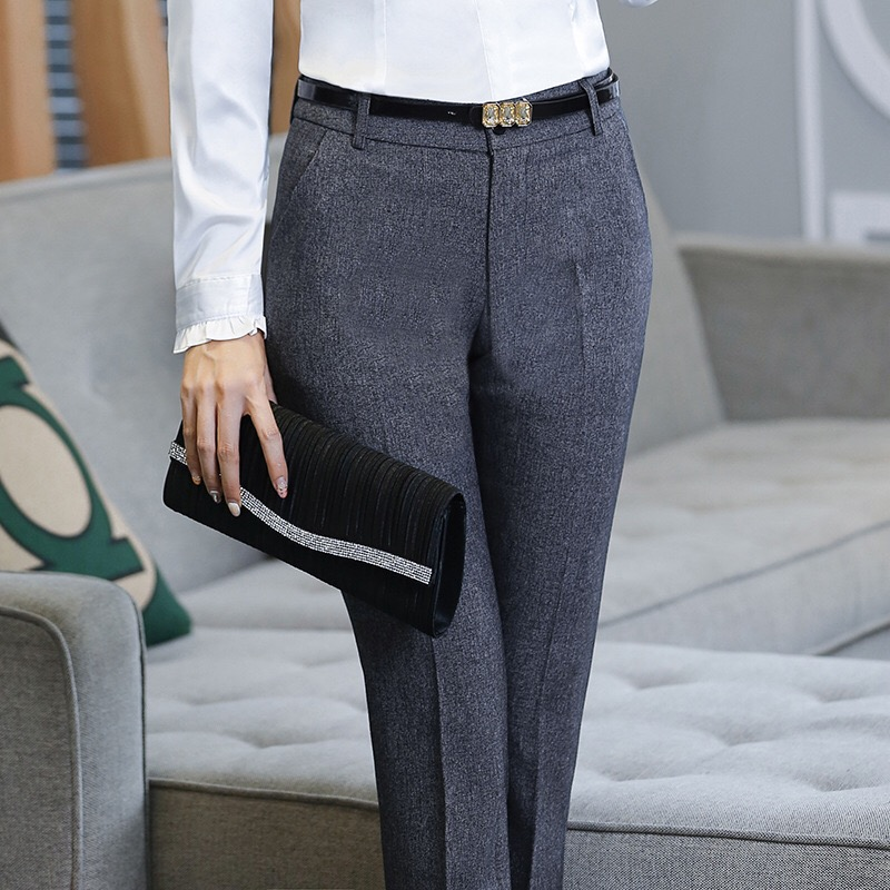 HTB1vlikGpOWBuNjy0Fiq6xFxVXax - Stylish Women Work Pants Casual Korean OL Office Lady Straight Leg Formal Long Trousers Business Dress Pants Female 4XL XXL