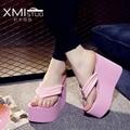 2017 Women Sandals Platform Shoes Woman summer slippers Bohemia wedges flip flops shoes beach wedges Ultra High Heels
