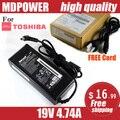 Mdpower для TOSHIBA L850 M352 M361 M362 питания ноутбука питания зарядное устройство блок 19 В 4.74A