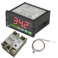 Temperature Controller PT100 Temperature Sensor Waterproof Stainless Steel Thermocouple SSR TA8 SNR Digital F/C PID