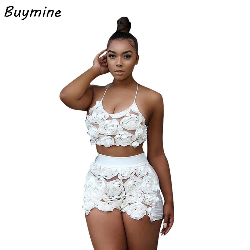 Aliexpress.com  Buy Women Sexy Crop Top And Shorts Two Piece Set Pink Lace Floral 2 Piece ...