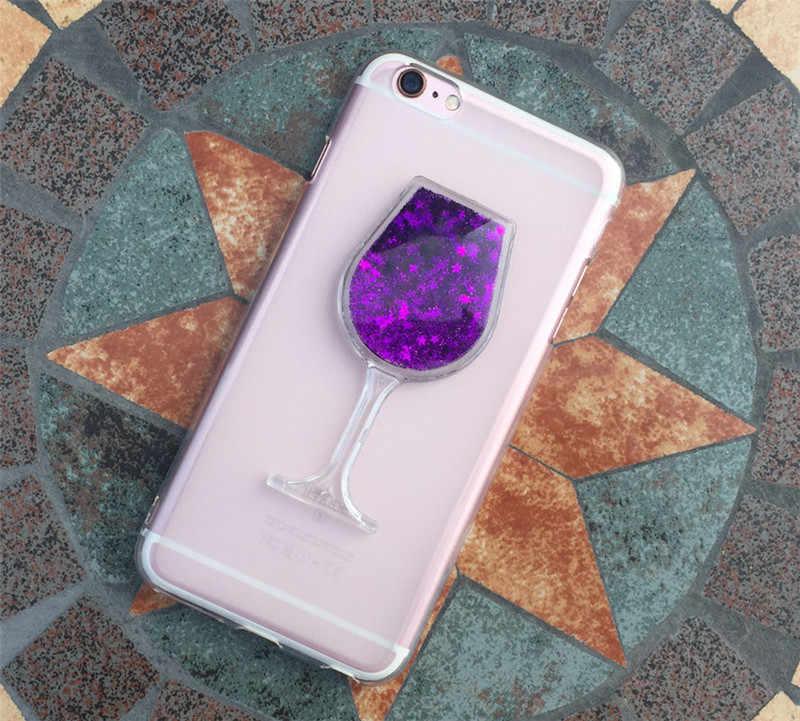 HTC Desire 620 için case Arka kapak Bling Glitter Dinamik Quicksand sıvı Vaka HTC Desire 620G Telefon kapak coque çapa para